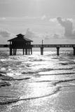 Fishing Pier Fort Myers Beach at Sunset - Florida Fotografisk tryk af Philippe Hugonnard