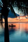 Sunset Landscape with Floating Platform - Florida Fotografie-Druck von Philippe Hugonnard