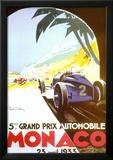 5th Grand Prix Automobile, Monaco, 1933 Poster by Geo Ham