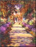 A alameda do jardim Impressão montada por Claude Monet