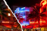 Dual Torn Posters Series - Miami Fotografisk trykk av Philippe Hugonnard