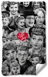 I Love Lucy - Faces Fleece Blanket Fleece Blanket