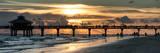 Fishing Pier Fort Myers Beach at Sunset Fotografie-Druck von Philippe Hugonnard