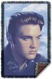 Elvis - Big Portrait Woven Throw Throw Blanket