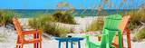 Four Chairs on the Beach - Florida Fotoprint av Philippe Hugonnard