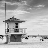 Beach Scene in Florida with a Life Guard Station Stampa su tela di Philippe Hugonnard