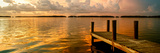Wooden Jetty at Sunset Reproduction photographique par Philippe Hugonnard