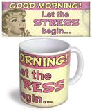 Let Stress Begin Mug Taza