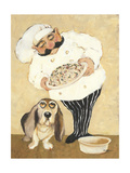 Dogs and Pasta Giclée-Premiumdruck von Carole Katchen