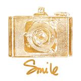 Gold Camera (gold foil) Kunstdrucke von Jairo Rodriguez