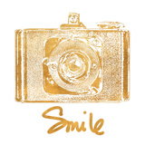 Gold Camera (gold foil) Stampe di Jairo Rodriguez