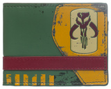 Star Wars - Mandalorian Green Bi-Fold Wallet Portafoglio