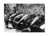 Transport von Thunfischen in Palermo, 1938 Photographic Print by Scherl Süddeutsche Zeitung Photo