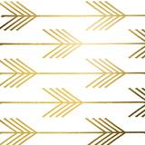 Golden Arrows I (gold foil) Prints by Elizabeth Medley