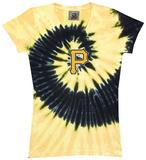 Juniors: Pirates Spiral V-Neck Damen-T-Shirts mit V-Ausschnitt