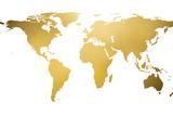 Gold World Map (gold foil) Poster