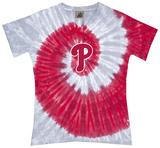 Juniors: Phillies Spiral V-Neck Damen-T-Shirts mit V-Ausschnitt