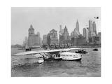 Flugschiff Dornier Do X im Hafen von New York, 1931 Reproduction photographique par Scherl Süddeutsche Zeitung Photo