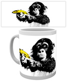 Monkey - Banana Mug Taza
