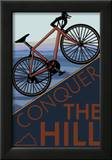 Conquer the Hill - Mountain Bike Print by  Lantern Press