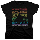 Women's: Pink Floyd - Dark Side Tracks Tshirts