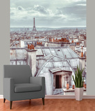 Paris Skyline Wallpaper Mural Vægplakat