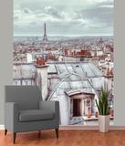 Paris Skyline Wallpaper Mural Wandgemälde