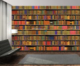 Colour Bookshelf Wallpaper Mural Tapettijuliste