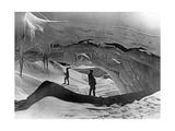 Tasman-Gletscher in Neuseeland, 1927 Fotografisk trykk av Scherl Süddeutsche Zeitung Photo
