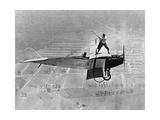 Mann spielt Golf auf einem Flugzeug, 1925 Fotografisk trykk av Scherl Süddeutsche Zeitung Photo