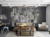 Creative Collage Typography - 64 piece Wallpaper Collage Tapettijuliste