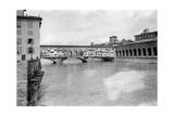 Der Ponte Vecchio in Florenz, 1909 Fotografisk trykk av Scherl Süddeutsche Zeitung Photo