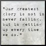 Inspirational Quote By Confucius On Earthy Background Impressão montada por  nagib