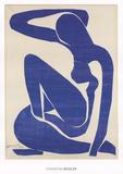 Blå nakenmodell I Posters av Henri Matisse