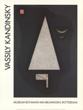 Forma appuntita bianca Stampe di Wassily Kandinsky