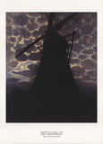 Windmill at Night Collectable Print by Piet Mondrian
