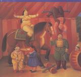 Gente Del Circo Kunst av Fernando Botero