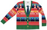 Long Sleeve: Feliz Navidad Ugly Sweater Tee Mangas longas