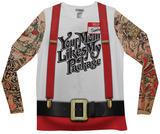 Long Sleeve: Christmas Tattoos & Suspenders Tee Lange ærmer