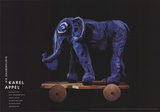 Die Zauberflote (Magic Flute), Elephant Samlertryk af Karel Appel