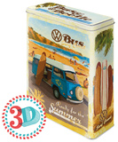 VW Bulli, Beetle - Ready for the Summer, Ready for the Beach - Tin Box Rariteter