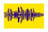 Chicago City Beat Yellow Premium Giclee Print by  GI ArtLab