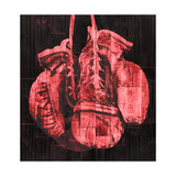 Boxing Gloves - Red Premium Giclee Print