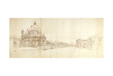 Santa Maria Della Salute and the Grand Canal, Venice Posters af Gaspar van Wittel