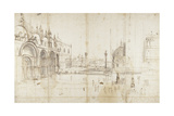 Little Saint Mark's Square, Venice Kunstdrucke von Gaspar van Wittel