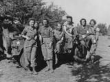 Veteran U.S. Army Nurses after Arriving in France on August 12, 1944 Fotografía