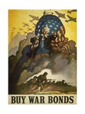 Buy War Bonds, World War 2 Poster of Uncle Sam Poster