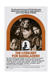 The Concert for Bangladesh, from Left: George Harrison, Leon Russell, Bob Dylan, 1972 Poster