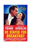 He Stayed for Breakfast, from Left: Melvyn Douglas, Loretta Young, 1940 Kunstdrucke