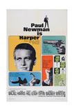 Harper, Paul Newman, Lauren Bacall, Janet Leigh, 1966 Kunstdruck